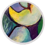 Round Beach Towel featuring the painting Play Of Light by Nicolas Bouteneff