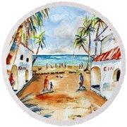Playa Del Carmen Round Beach Towel