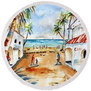 Playa Del Carmen Round Beach Towel