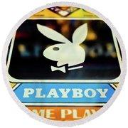 Playboy Pinball Round Beach Towel