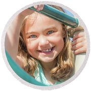 Playground Fun Round Beach Towel