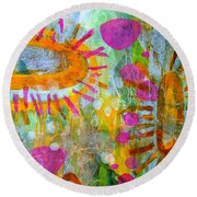 Playground In The Sea Round Beach Towel