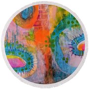 Playground In The Sea II Round Beach Towel
