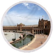 Round Beach Towel featuring the photograph Plaza De Espana 4 by Andrew Fare