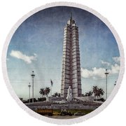 Round Beach Towel featuring the photograph Plaza De La Revolucion by Lou Novick