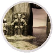 Plea Of The Penitent To The Lord Of Perdition Round Beach Towel by John Alexander