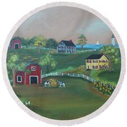 Pleasant View Farm Round Beach Towel