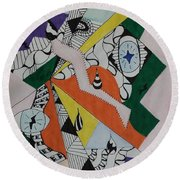 Please Remember Me Round Beach Towel