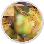 Pleasures Of Autumn -  Round Beach Towel