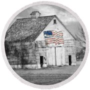 Pledge Of Allegiance Crib Round Beach Towel