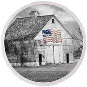 Pledge Of Allegiance Crib Round Beach Towel by Kathy M Krause