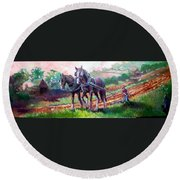 Ploughing Round Beach Towel