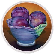 Plum Assignment Round Beach Towel