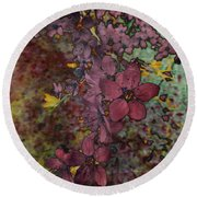 Round Beach Towel featuring the photograph Plum Blossom by LemonArt Photography