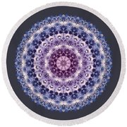 Plum Lovely Round Beach Towel