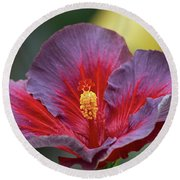 Plum Wonderful Round Beach Towel