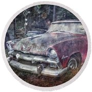 Round Beach Towel featuring the photograph Plymouth Belvedere by Debra and Dave Vanderlaan