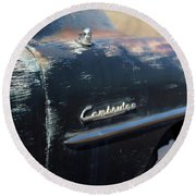 Plymouth Cambridge Round Beach Towel by Heidi Hermes