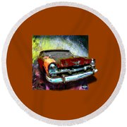 Plymouth From The Past Round Beach Towel