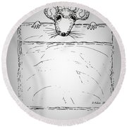 Pocket Mouse Round Beach Towel by Denise Fulmer
