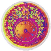 Pocket Watch 1830 Round Beach Towel