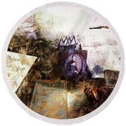 Round Beach Towel featuring the photograph Poets In Picardy by Claire Bull