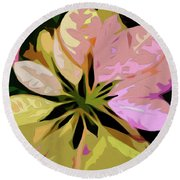 Poinsettia Tile Round Beach Towel