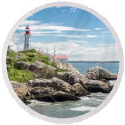 Round Beach Towel featuring the photograph Point Atkinson Lighthouse by Ross G Strachan