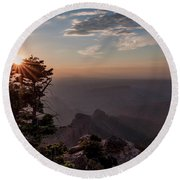 Point Imperial Sunrise Round Beach Towel by David Cote