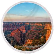 Point Imperial Sunrise Panorama II Round Beach Towel by David Cote