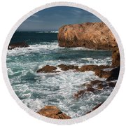 Point Lobos Round Beach Towel by Glenn Franco Simmons