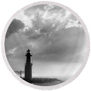 Point Of Inspiration Round Beach Towel