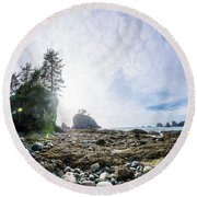 Point Of The Arches 2 Round Beach Towel