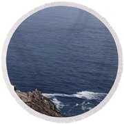 Point Reyes Lighthouse Round Beach Towel