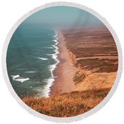 Point Reyes National Seashore Round Beach Towel