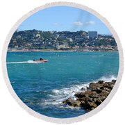 La Pointe Rouge Marseille Round Beach Towel