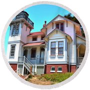 Round Beach Towel featuring the photograph Point San Luis Lighthouse by Floyd Snyder