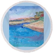 Point San Pablo Round Beach Towel