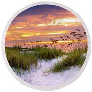 Point Sunrise Round Beach Towel