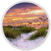 Point Sunrise Round Beach Towel by David Smith
