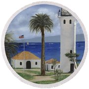 Point Vicente Lighthouse Round Beach Towel by Jamie Frier