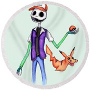 Pokejack  Round Beach Towel