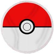 Pokemon Ball Round Beach Towel