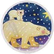 Polar Back Ride Round Beach Towel by Cathy Baxter