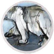 Polar Round Beach Towel by Mark Adlington