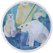 Polar Party Round Beach Towel
