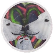 Polarized Round Beach Towel