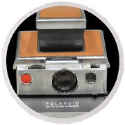 Polaroid Sx-70 Land Camera Round Beach Towel