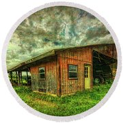 Pole Barn Round Beach Towel by Lewis Mann