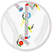 Polka Dot Blast Round Beach Towel